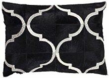 Sofakissen Kopfkissen Dekokissen Couch- oder Palettenkissen Lounge Rückenkissen Design Lavish Pillow 310 Schwarz 100% Leder 40x60cm | Teppiche günstig online kaufen