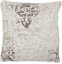 Sofakissen Kopfkissen Dekokissen Couch- oder Palettenkissen Lounge Rückenkissen Design Nostalgia Pillow 285 Anthrazit Baumwolle 45x45cm | Teppiche günstig online kaufen