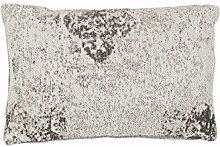 Sofakissen Kopfkissen Dekokissen Couch- oder Palettenkissen Lounge Rückenkissen Design Nostalgia Pillow 285 Anthrazit Baumwolle 40x60cm | Teppiche günstig online kaufen