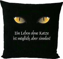 Sofakissen mit Füllung: Ein Leben ohne Katze ist möglich, aber sinnlos!