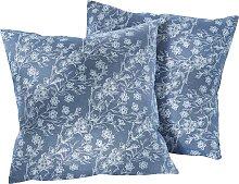 Sofaläufer Blume, blau (2er-Pack Sessel 150/50 cm)