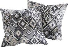 Sofaläufer Ethno, grau (2-Sitzer-Sofa 150/120 cm)