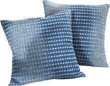 Sofaläufer Jeans, blau (2er-Pack Sessel 150/50 cm)