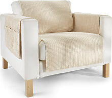 Sofaläufer  Leyla, beige (3-Sitzer-Sofa 181/280 cm)