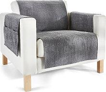 Sofaläufer  Leyla, grau (Sessel mit Armlehnen 181/166 cm)