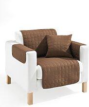Sofaläufer Nina, braun (Sessel mit Armlehnen 181/166 cm)