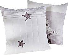 Sofaläufer Sterne, grau (2-Sitzer-Sofa 181/116 cm)