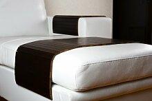 Sofatablett groß 80cm ~ Ablage Tablett BRAUN für Hocker oder Longchair Couch Tablett ~ moebelhome Sofaschoner NEU