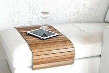 Sofatablett Holz groß XXL 120cm ~ Ablage Tablett EICHE Massivholz für Hocker oder Longchair Couch Tablett ~ moebelhome Hockerablage NEU