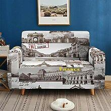 Sofaüberwürfe Elastisch 2-Sitzer, Paris Blick