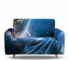 Sofaüberwürfe Elastisch 2-Sitzer, Weltraum