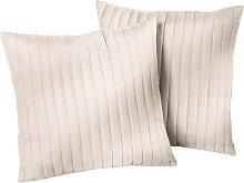 Sofaüberwurf Streifen, beige (Sessel mit Armlehnen 181/166 cm)