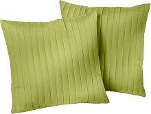 Sofaüberwurf Streifen, grün (2-Sitzer-Sofa