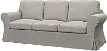 Soferia Bezug fur IKEA EKTORP 3er-Sofa, Stoff