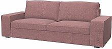 Soferia - Bezug fur IKEA KIVIK 3er-Sofa, Naturel