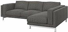 Soferia Bezug fur IKEA NOCKEBY 2er-Sofa mit