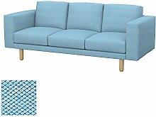 Soferia - Bezug fur IKEA NORSBORG 3er-Sofa, Nordic