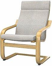 Soferia Bezug fur IKEA POANG Sessel, Stoff Naturel