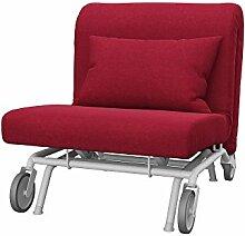 Soferia Bezug fur IKEA PS Sessel, Stoff Classic Red