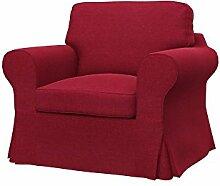 Soferia - IKEA EKTORP Sessel Bezug, Classic Red