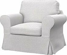 Soferia - IKEA EKTORP Sessel Bezug, Naturel White