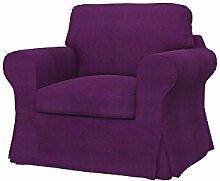 Soferia - IKEA EKTORP Sessel Bezug, Senses Purple