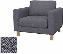 Soferia - IKEA KARLSTAD Sessel Bezug, Nordic Anthracite