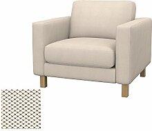 Soferia - IKEA KARLSTAD Sessel Bezug, Nordic Creme