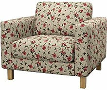 Soferia - IKEA KARLSTAD Sessel Bezug, Provence Red