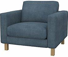 Soferia - IKEA KARLSTAD Sessel Bezug, Senses Grey