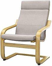 Soferia - IKEA POANG Sessel Bezug, Elegance Beige