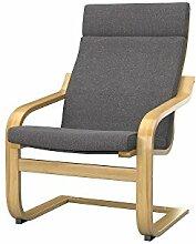 Soferia - IKEA POANG Sessel Bezug, Glam Grey