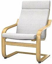 Soferia - IKEA POANG Sessel Bezug, Naturel White