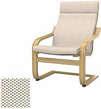 Soferia - IKEA POANG Sessel Bezug, Nordic Creme