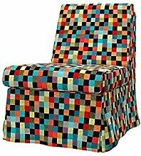 Soferia - IKEA SANDBY Sessel Bezug, Mozaik Red