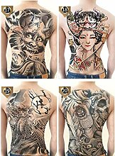 SOFIALXC Full Back Temporäres Tattoo, Extra