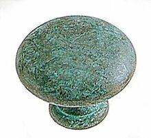 sofoc 8730729rund Knopf Tür- und Schublade, Möbelgriff Messing grau/braun und grün 4x 3x 4cm