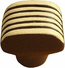 sofoc 8773579Delice Knopf Tür- und Schublade, Möbelgriff, Keramik/Kunstharz, Schokoladenbraun/elfenbeinfarben 2,8x 2,7x 2,4cm