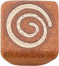 sofoc 8773679Atlas Knopf Tür- und Schublade-Waschtisch Steingut Handarbeit Steingut/rot/braun/beige 3,4x 2,5x 3,4cm
