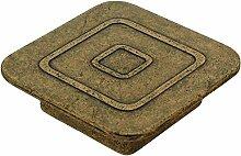 sofoc 8775599Retro Knopf Tür- und Schublade, Möbelgriff Metall gold/messing antik 6x 1,7x 6cm