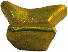 sofoc a871154Nebula Knopf Tür- und Schublade, Möbelgriff Metall gold satiniert 1,8x 3,8x 3cm