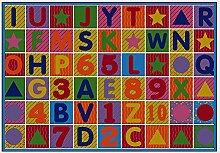 Soft Baby Teppich, Moderne Puzzle Zahlen Englisch