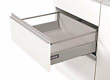 Soft Close Küche Schublade Läufer System L–300–Comfort Box by rejs rund oberen Schiene, weiß, H = 164mm