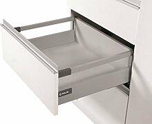 Soft Close Küche Schublade Läufer System L–400–Comfort Box by rejs rechteckig oberen Schiene, silber, H = 164mm