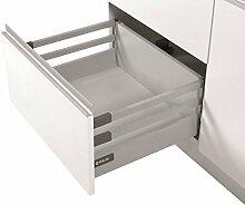 Soft Close Küche Schublade Läufer System L–400–Comfort Box by rejs rechteckig oberen Schiene H = 204mm silber
