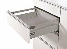 Soft Close Küche Schublade Läufer System L–500–Comfort Box by rejs rechteckig oberen Schiene, weiß, H = 140mm