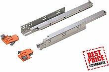 Soft Close undermounting Schublade Läufer Full Verlängerung Läufer/3D Folien (1Paar–500mm)