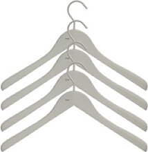 Soft Coat Kleiderbügel 4er-Set grau breit