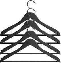 Soft Coat Kleiderbügel mit Steg 4er-Set breit