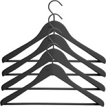 Soft Coat Kleiderbügel mit Steg 4er-Set schmal